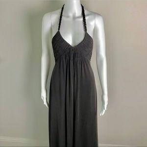 BCBG MAX AZRIA Maxi Halter Chain Backless Dress S